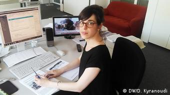 Dimitra Kyranoudi aus der griechischen Redaktion der Deutschen Welle