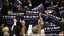 USA Nominierung von Donald Trump bei der Republikanischen Konvention in Cleveland