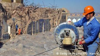 Irak Samrra Ruine Wiederaufbau Bauarbeiter (Getty Images/AFP/D. Hamid)