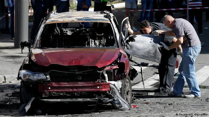 Автомобіль, у якому був підірваний Павло Шеремет