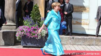 Angela Merkel at teh Bayreuth Festival (picture-alliance/Eventpress)
