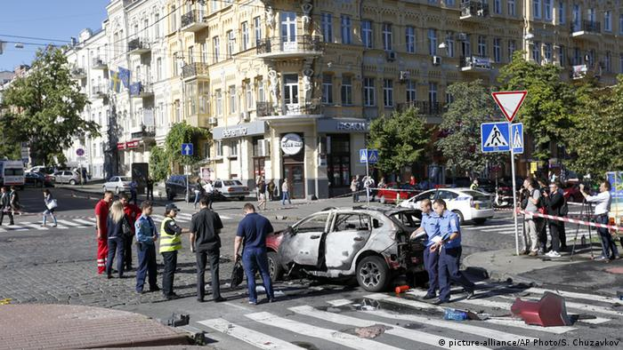 Journalist Pavel Sheremet killed by a car bomb in central Kyiv (picture-alliance/AP Photo/S. Chuzavkov)
