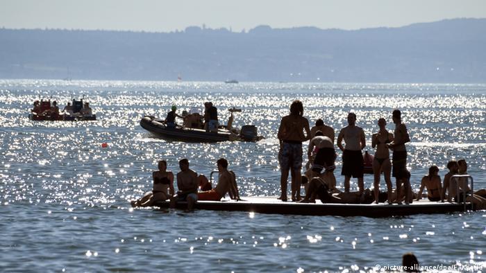 Deutschland Hitze Bodensee (picture-alliance/dpa/F. Kästle)