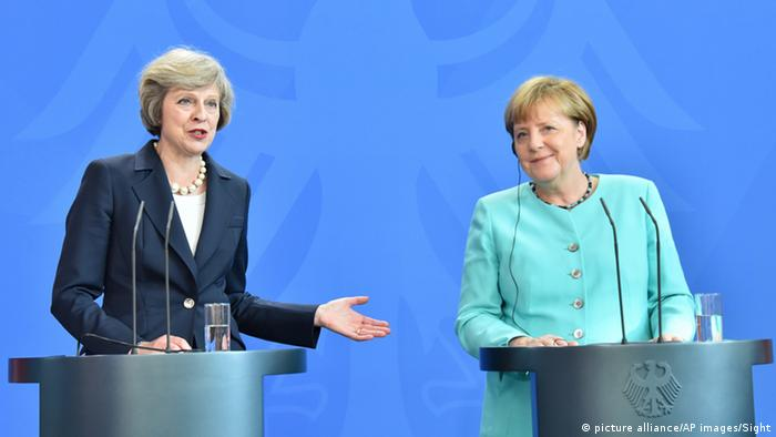 Angela Merkel și Theresa May la Berlin
