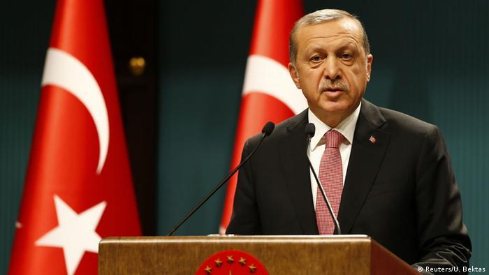 Der türkische Präsident Erdogan bei einer Pressekonferenz in Ankara