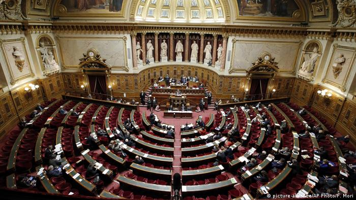 Inside shot of the French senate