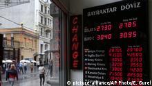 Türkei Finanzmarkt Wechselstube