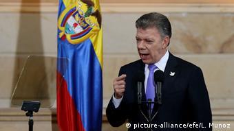 El presidente colombiano, Juan Manuel Santos, respalda de los acuerdos de La Habana.