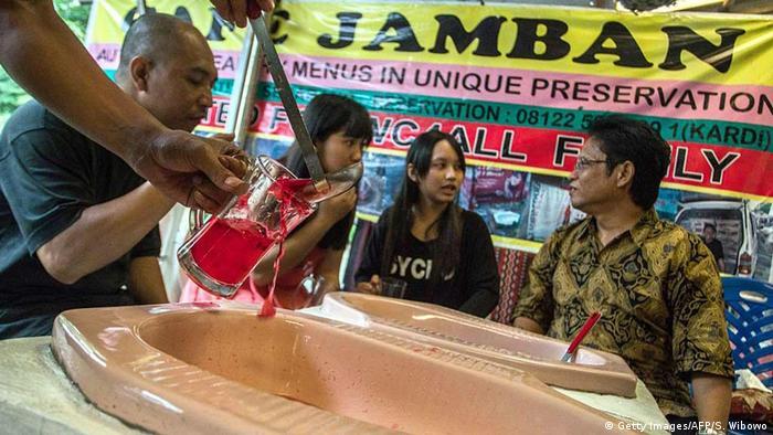 Indonesien Toiletten-Restaurant Jamban Cafe