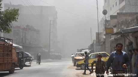 Syrien Angriff von Assads Truppen in Mashad, Aleppo (picture-alliance/AA/M. Sultan)