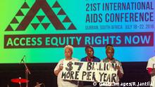 Durban AIDS Konferenz Südafrika Treatment Action Campaign TAC
