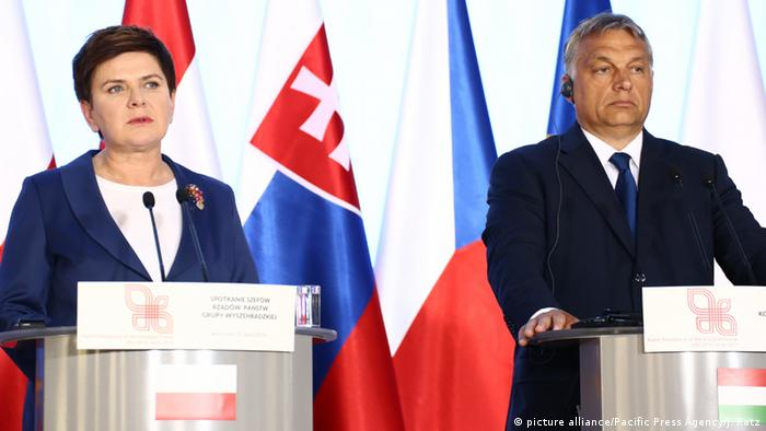 Beata Szydlo and Viktor Orban in Warsaw