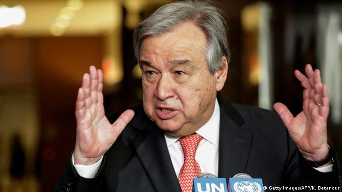 USA Antonio Guterres in New York (Getty Images/AFP/K. Betancur)