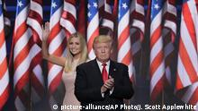 USA Republican National Convention in Cleveland Donald Trump Ivanka Trump