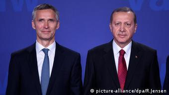 Ο Ερντογάν με τον Γ. Γ. του ΝΑΤΟ πρόσφατα στη Βαρσοβία