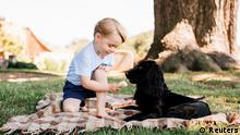 Prinz George with a dog, Copyright: Reuters