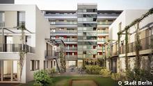 Berlin: Beispiel eines Neubauprojekts der landeseigenen Wohnungsbaugesellschaft Mitte: die Gärtnerei. Copyright: Stadt Berlin