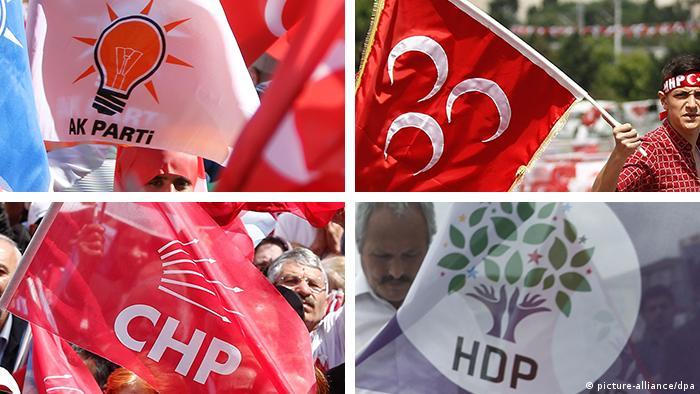 AKP, MHP, CHP, HDP