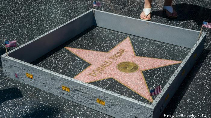 Donald Trump Star Hollywood Walk of Fame (picture-alliance/dpa/N. Stern)