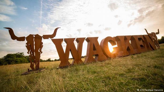 Deutschland Wacken-Logo-Installation (ICS Festival Service)