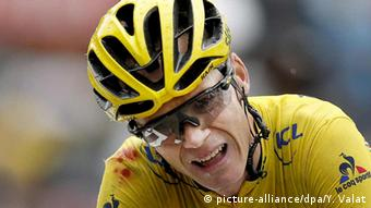 Frankreich Tour de France- Christopher Froome, Etappe 19 (picture-alliance/dpa/Y. Valat)