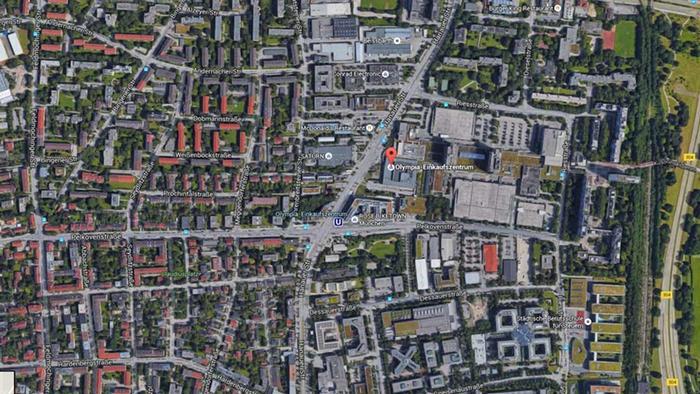 Screenshot Googlemaps- Olympia Einkaufszentrum