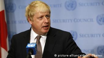 Großbritannien Außenminister Boris Johnson