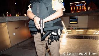 Полицейский возле центрального вокзала в Мюнхене