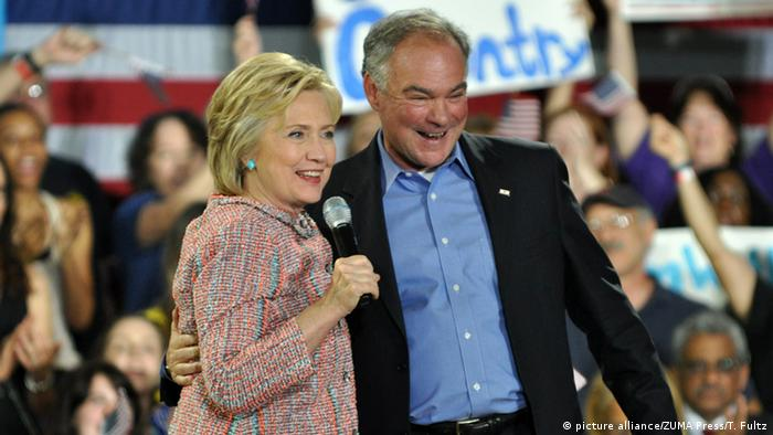 USA Virginia Hillary Clinton und Tim Kaine
