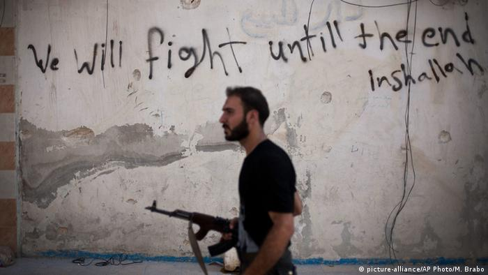 A Syrian opposition fighter