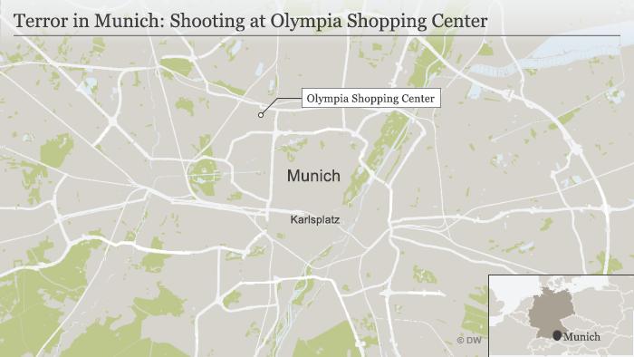 Karte München Olympia Einkaufszentrum englisch
