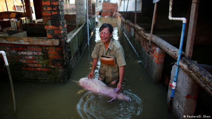 Schwere Unwetter und Überschwemmungen in China in der Provinz Hebei