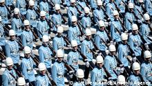 30. 08. 2015 ANKARA, TURKEY - AUGUST 30: The President Guard Regiment of Turkey holds military parade for the 93th Anniversary of Victory Day celebrations held at AtatÃ_rk Cultural Center in capital Ankara, Turkey, on August 30, 2015. Ercin Top / Anadolu Agency | Keine Weitergabe an Wiederverkäufer. copyright. picture-alliance/Anadolu Agency