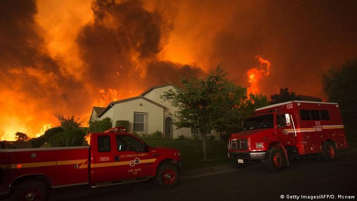 USA Kalifornien Waldbrand
