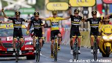 Tour de France Paris Christopher Froome und Team Sky