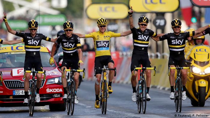 Tour de France Paris Christopher Froome und Team Sky (Reuters/J.-P. Pelissier)