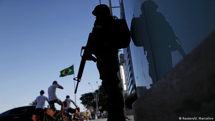 Brasilien Rio de Janeiro Soldaten Sicherheit während der Olympischen Spiele
