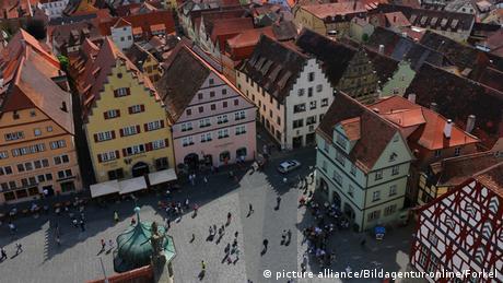 Deutschland Ansbach Stadtansicht