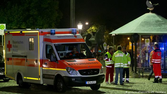 Deutschland Ansbach Explosion Rettungssanitäter