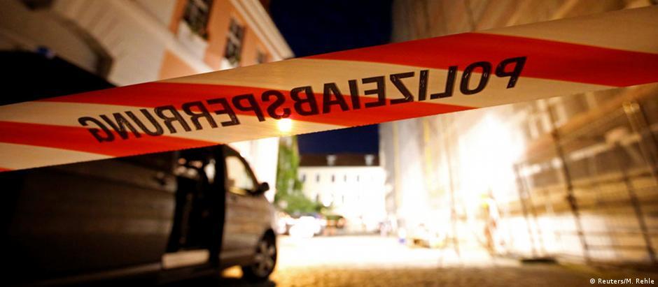 Polícia isolou a área do atentado em Ansbach