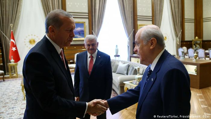 President Erdogan met with representatives of some opposition parties