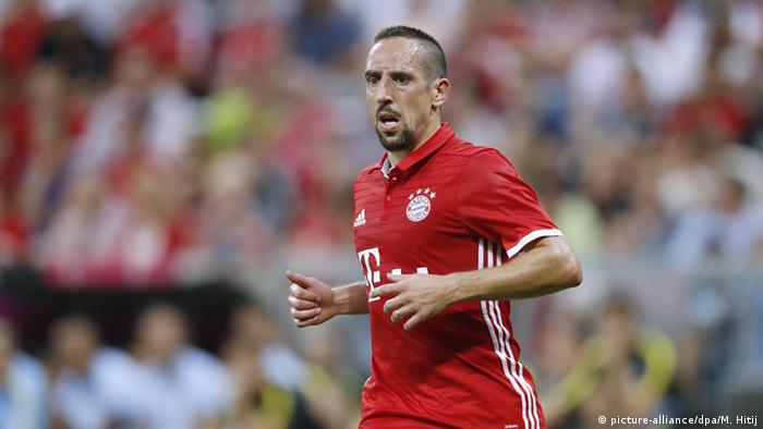 Franck Ribery beim Testspiel (Foto: picture-alliance/L. Perenyi)