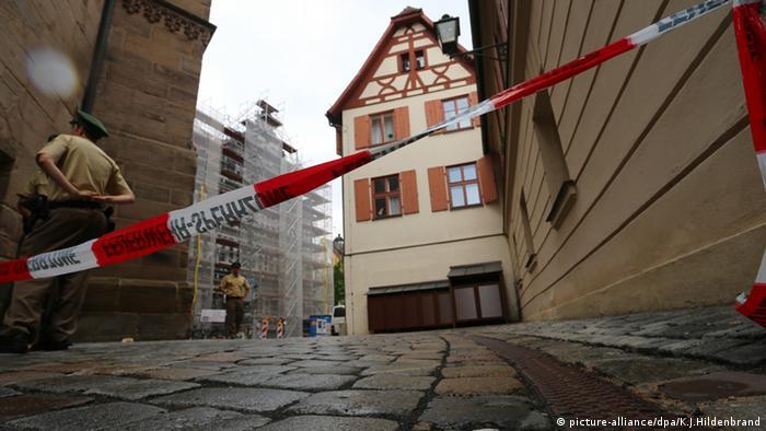 Ансбах после взрыва