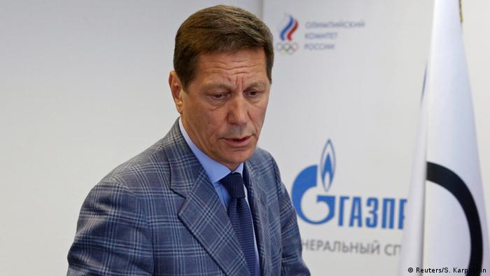 Russland Präsident des Russischen Olympischen Komitees Alexander Schukow