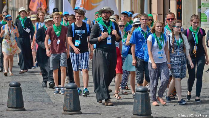 Polen - Pilger auf dem Weg zum Weltjugendtag