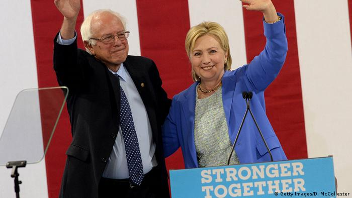 USA - Sanders und Clinton - stronger together