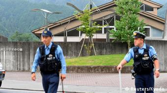 Police cordoned off the area in front of the facility after the attack