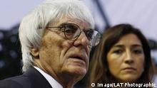Bernie Ecclestone mit seiner Ehefrau Fabiana Flosi