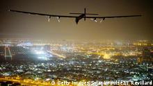 Solar Impulse 2 Abschluss der Erdumrundung in Abu Dhabi