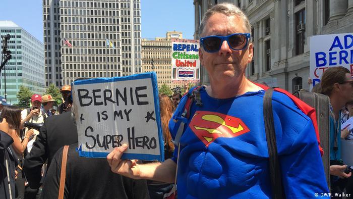 USA Wahlen Parteitag der Demokraten in Philadelphia Sanders Unterstützer